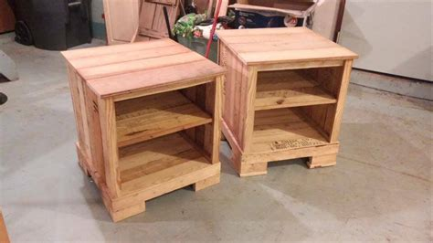 Side Table With Built In Lamp Pallet Night Stands 99 Pallets