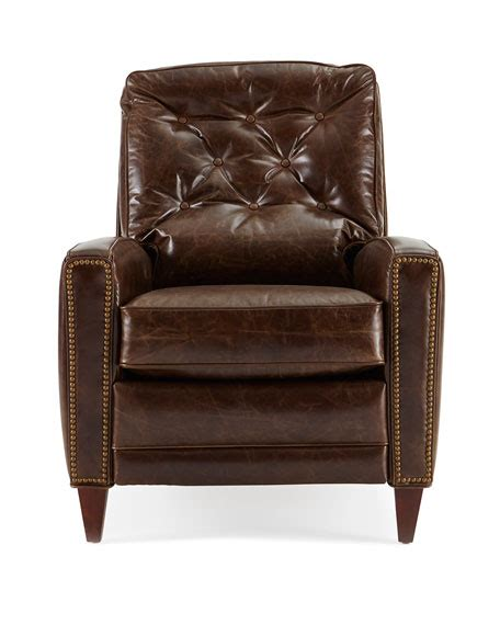 tufted leather recliner hudson tufted leather recliner brown
