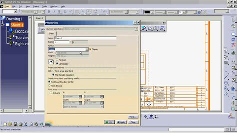 design frame in catia catia v5 introduction to drawings part 1 youtube