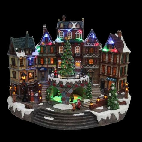 Home Accents Holiday 12.5 in. Animated Holiday Downtown NM X11646FA The Home Depot