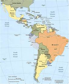 political map south america political map of south and central america