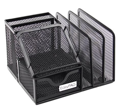 black mesh desk tray easypag mesh office desk organizer holder caddy with