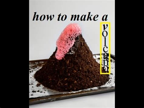 How To Make A Volcano With Lava Coming Out Science