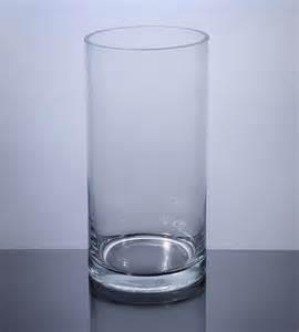 pc510 cylinder glass vase 5 quot x 10 quot 12 p c cylinder