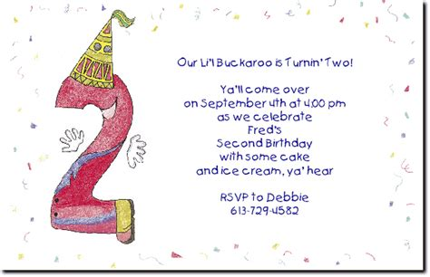 Happy Birthday Quotes For 2 Year 2 Year Old Birthday Party Invitation