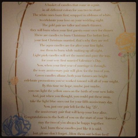 Showers Poem by Candle Poem For Bridal Shower Creative Shower Gift Ideas