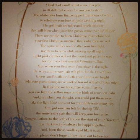 printable bridal shower poems candle poem for bridal shower creative shower gift ideas