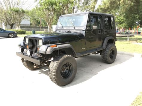 Jeep Wrangler Hardtops For Sale 1993 Jeep Wrangler Yj Hardtop 4 0 H O 5 Speed Lifted For