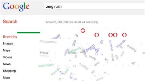 google imagenes zerg rush google tricks