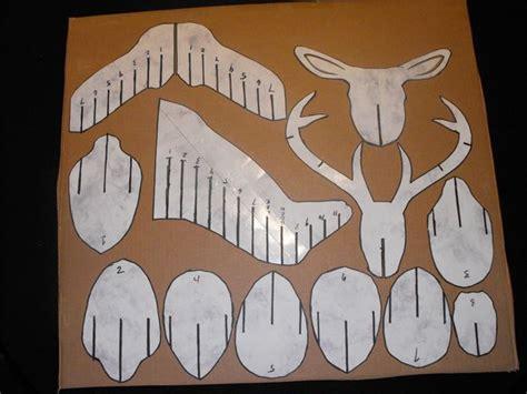 3d cardboard duct deer trophy with template