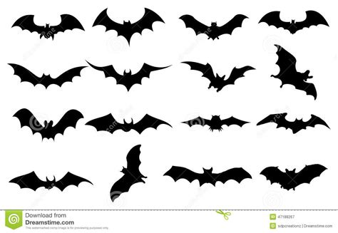 bats icons set stock vector image 47188267