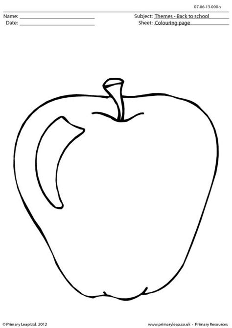 apple coloring page for pre k apple colouring page primaryleap co uk