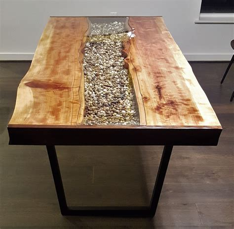 how to a river table crafted live edge redwood river table by mb designs