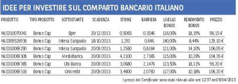 banche investimento italiane investire sulle azioni delle banche italiane miglior