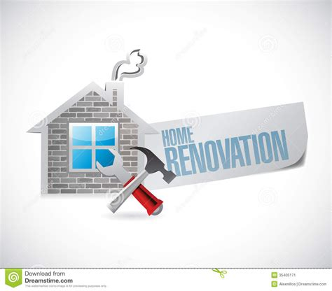 free house renovation home renovation symbol illustration design stock image