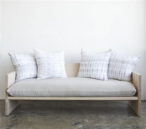 rebecca sofa bed a modern daybed sofa hand dyed shibori included remodelista