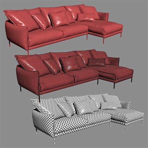 gentry sofa moroso moroso gentry ge0c51 sofa 3d model max cgtrader com