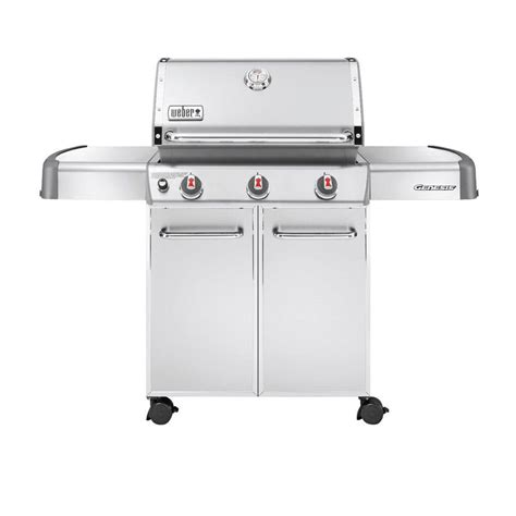 weber genesis s 310 3 burner propane gas grill in stainless steel 6550001 the home depot
