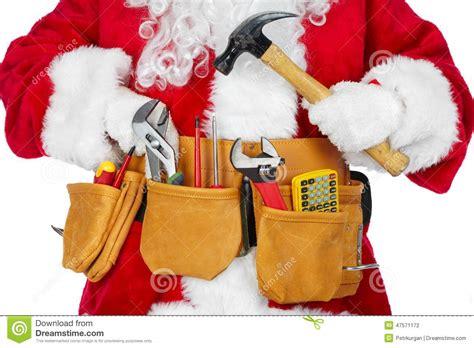 santa claus   tool belt stock photo image