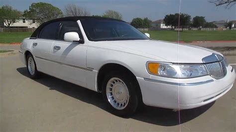 all car manuals free 2000 lincoln town car interior lighting 2000 lincoln towncar 64k miles white carriage top wow youtube