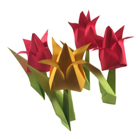 Tulips Origami - traditional origami tulip origami expressions