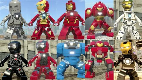 evolution iron man tony stark lego marvel