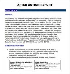 After Report Template by Sle After Report 6 Documents In Pdf