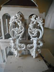 Candle Sconces Wall Decor by Candle Sconces Candle Holders Shabby Chic Painted Sconces