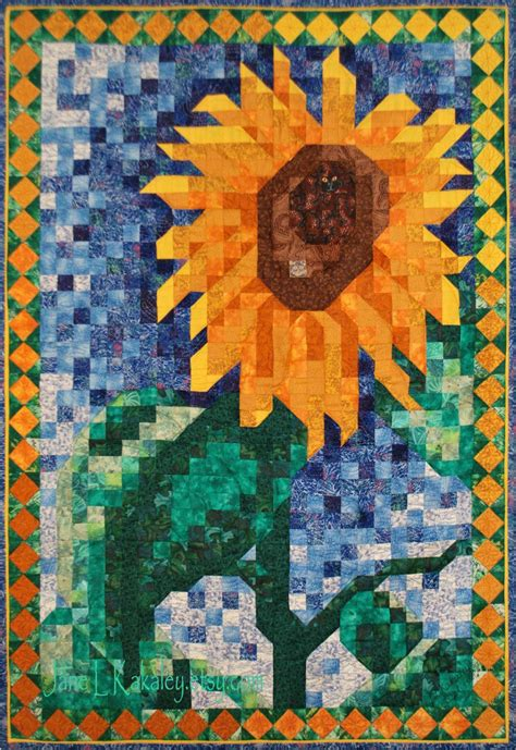 mosaic pattern landscape mosaic patterns sunflowers art quilt pattern sunflower