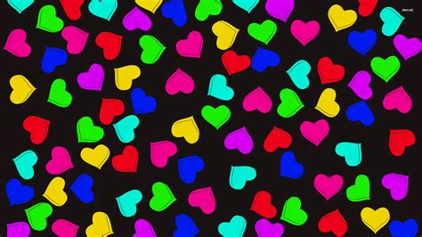 wallpaper of colorful hearts colorful hearts wallpaper vector wallpapers 1097