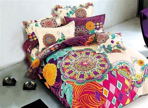 flower duvet cover sets european style colorful big flowers printing 4 duvet