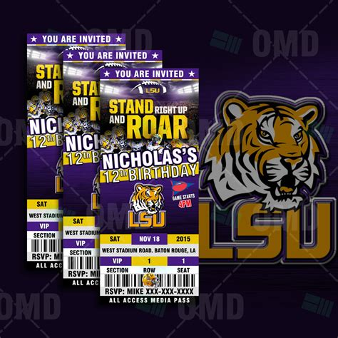 Lsu Wedding Invitations
