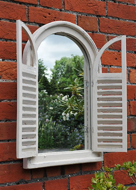 Garden Wall Mirrors Buy Garden Wall Mirror With Shutters