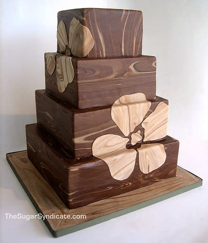 wood pattern on fondant faux bois wood grain wedding cake flickr photo sharing
