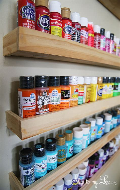diy craft paint storage craft paint storage wood project skip to my lou
