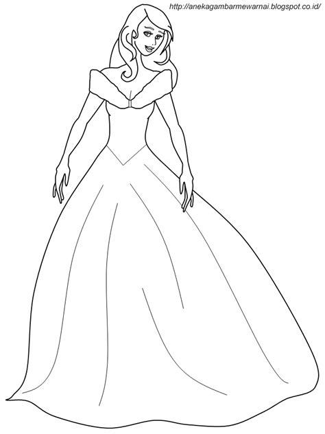 Gambar Mewarnai Cinderella Untuk Anak PAUD dan TK
