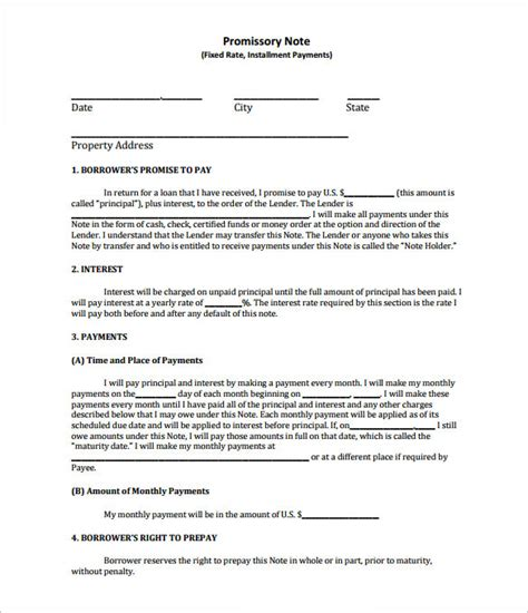 promissory note template california free promissory note template 27 free word pdf format