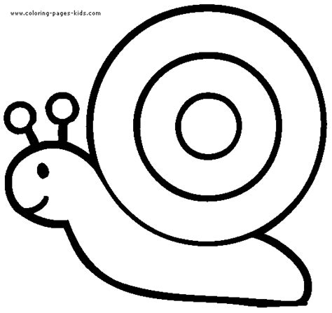 Simple Snail Color Page For Young Kids Simple Coloring Pages To Print