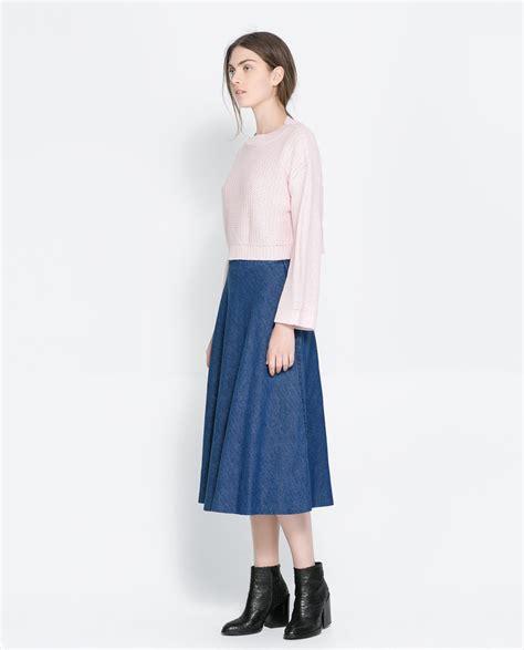 Zara Denim Original zara denim midi skirt where to buy how to wear