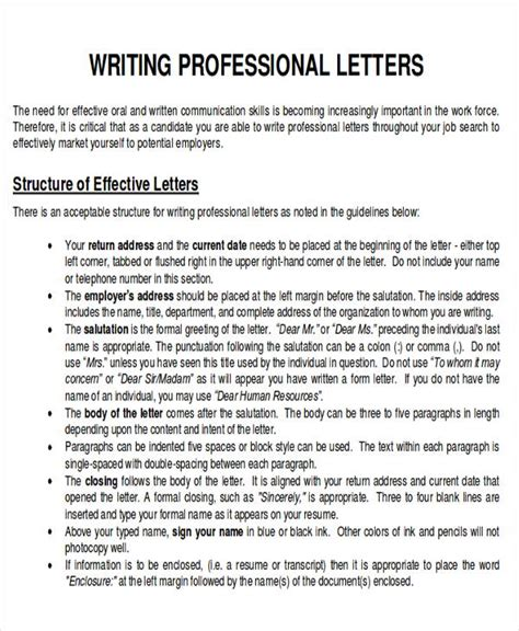 layout of a professional letter sle business letter layout 8 exles in word pdf