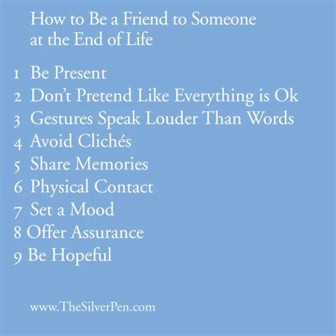 comforting words to say when someone is dying how to be a friend to someone at the end of life the