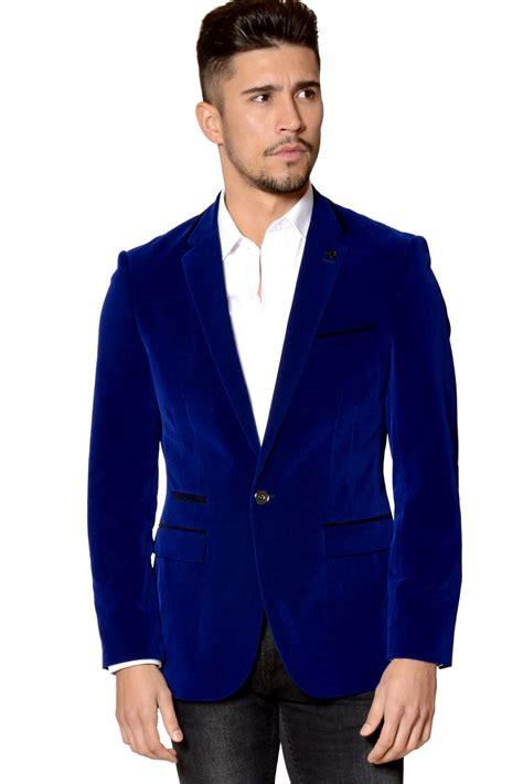 jacket design maker mens marc darcy designer blue velvet blazer vintage style