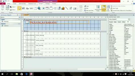 membuat query di microsoft acces tutorial membuat query dan form di microsoft acces youtube