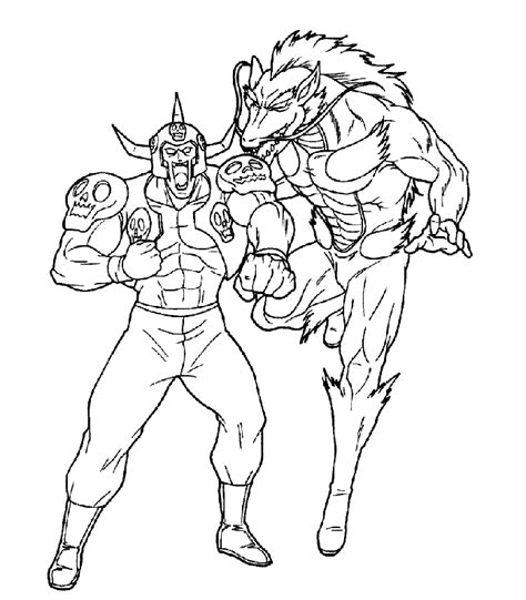 ultimate muscle coloring pages for kids coloringpagesabc com