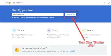 google images link how to shorten url link with google url shortener fewnow