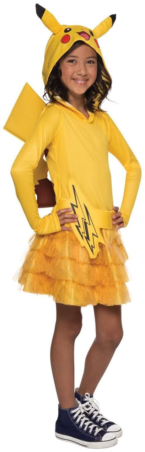 8 Costumes For by Pikachu Hoodie Child Dress For