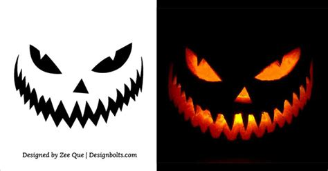 scary pumpkin carving templates 10 free printable scary pumpkin carving patterns