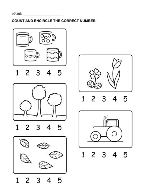 printable preschool number activities tracing numbers 1 5 worksheets for kindergarten tracing