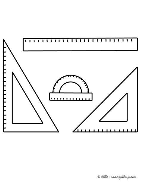 imagenes de reglas matematicas dibujos para colorear material de geometria es hellokids com