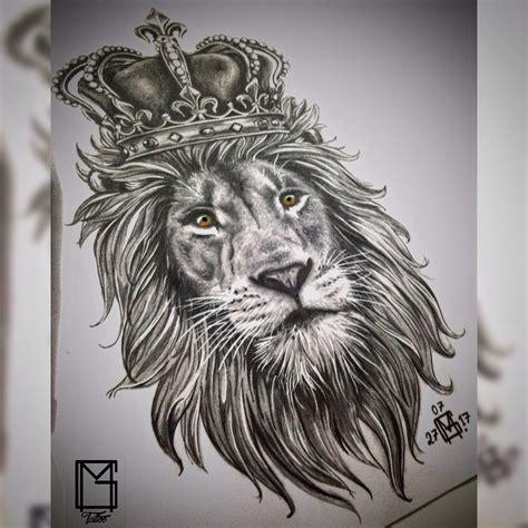 crowned lion tattoo crown le 227 o coroa tatuagem tats
